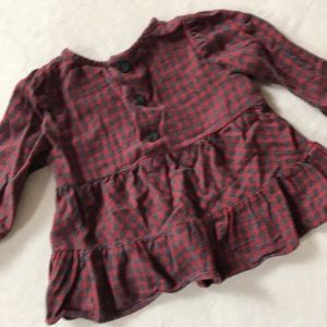 Zara Shirts & Tops - Zara baby flannel long sleeved shirt, size 3-4